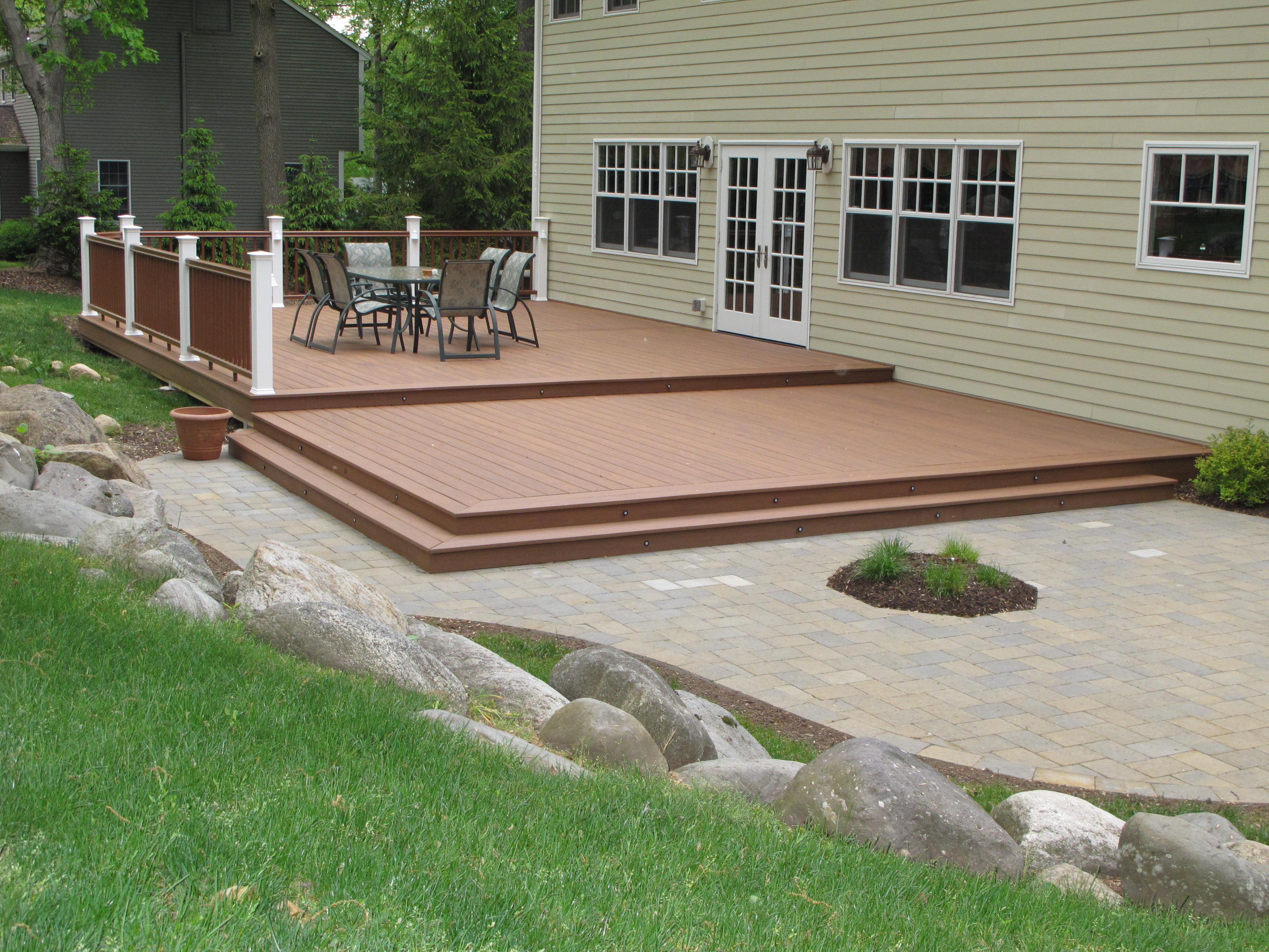 BergenDecks - Project on Backyard Patio Steps id=38034